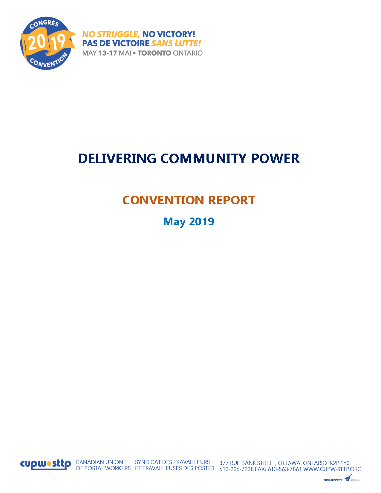 Delivering Community Power - Convention Report (2019)