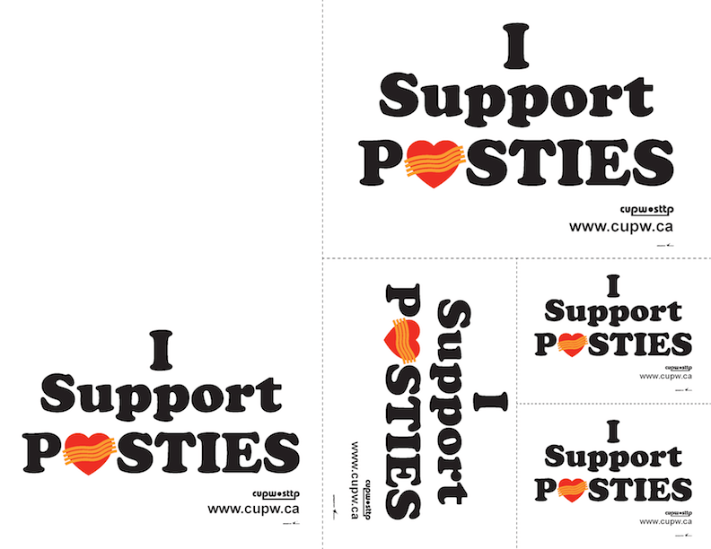 I Support Posties - Print and Cut (Various Sizes)