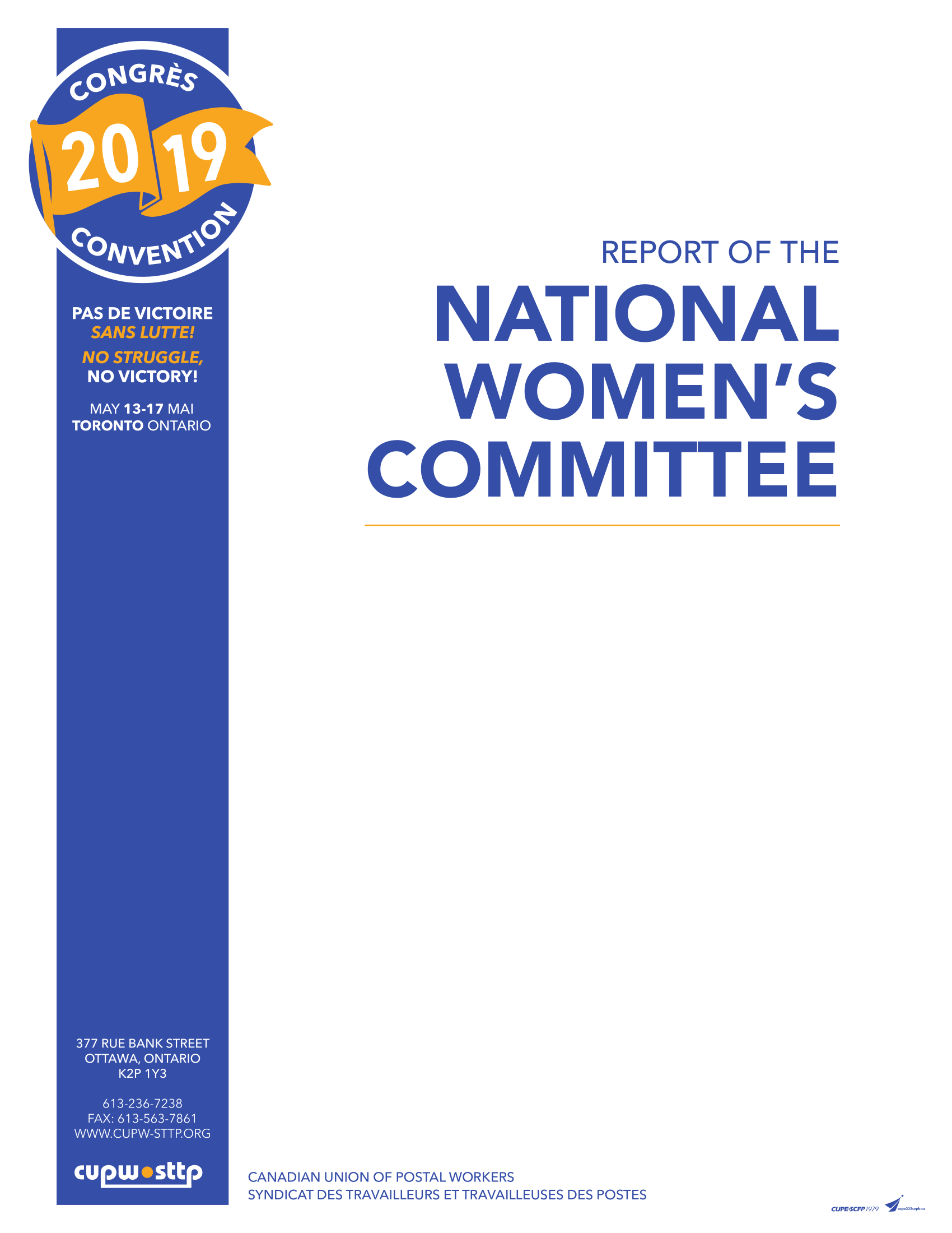 Report of the National Women's Committee (2019)