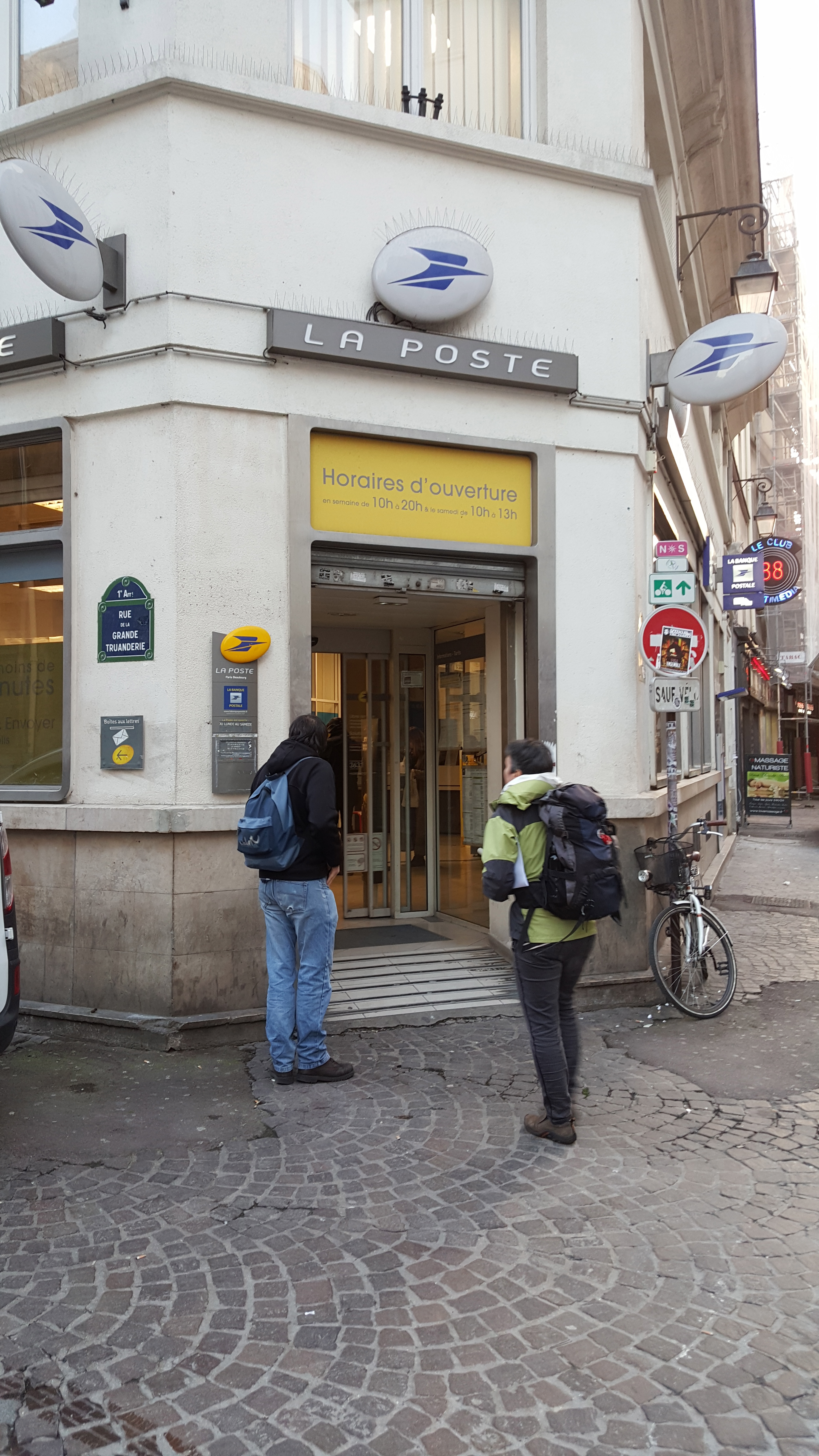 Paris post office with postal bank branch