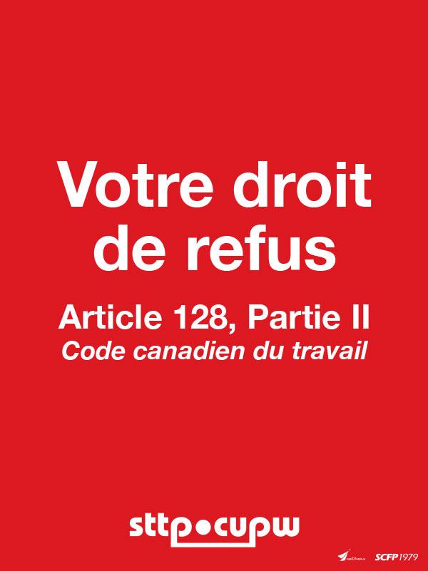 Carte de référence sur le droit de refus - Code canadien du travil