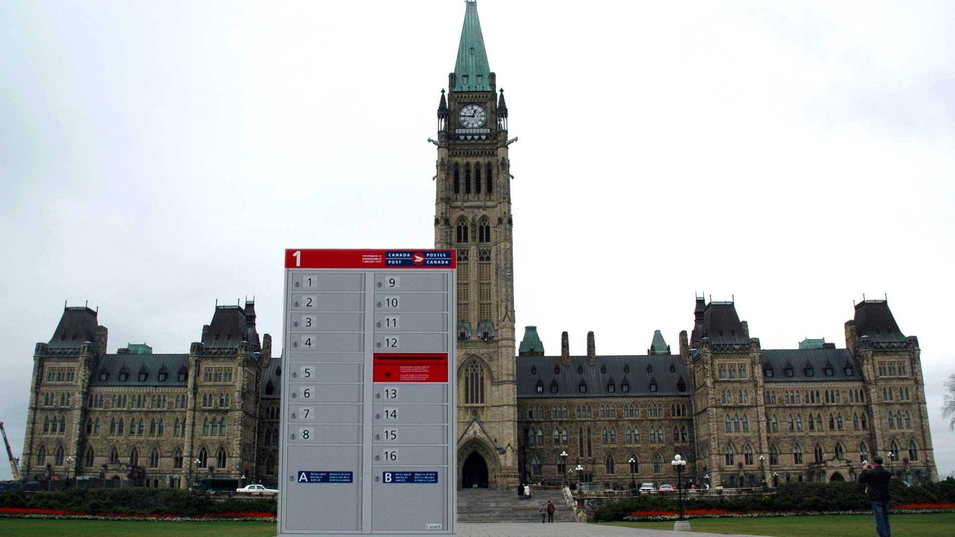 Photo de la boîte postale communautaire sur la Colline du Parlement