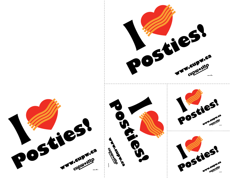 I heart posties Print-and-Cut Signs (Various Sizes)