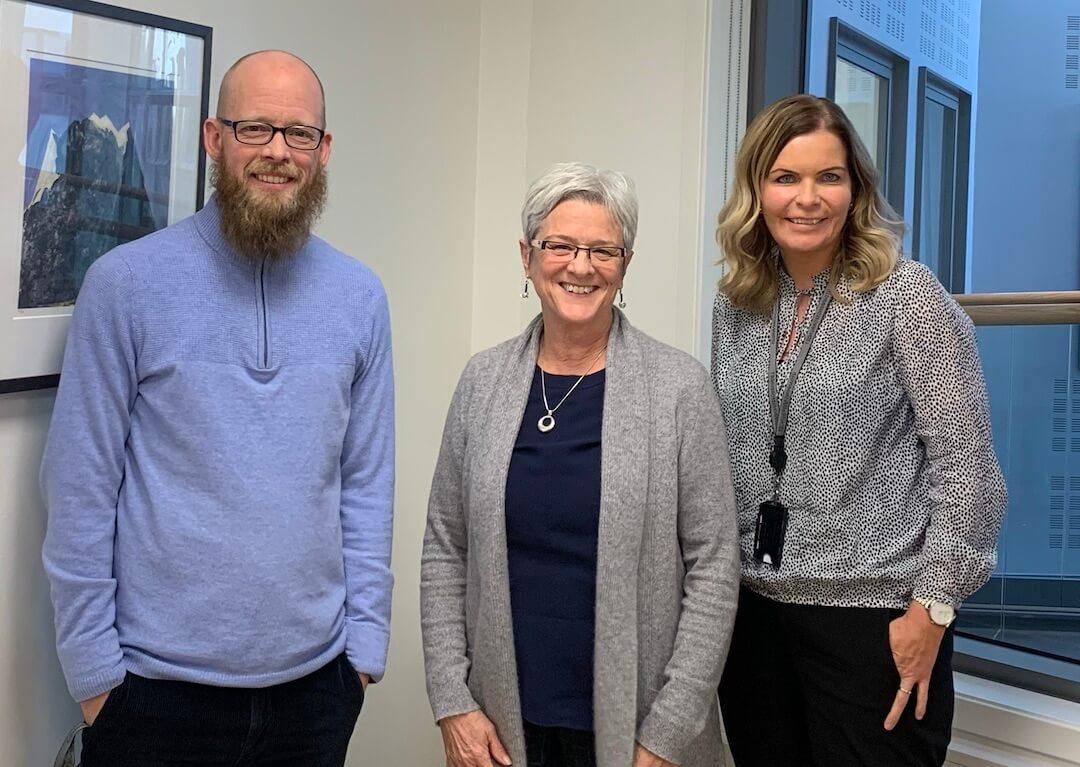 Jane en compagnie de membres du syndicat des enseignantes et enseignants de la Norvège.