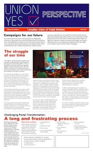 Campaigns for our future (Perspective - May 2013)