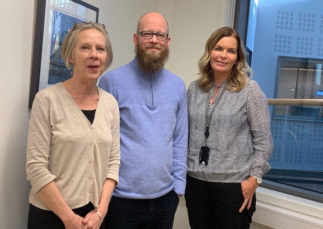 Shellie en compagnie de membres du syndicat des enseignantes et enseignants de la Norvège.
