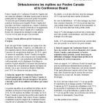 Déboulonnons les mythes sur Postes Canada et le Conference Board