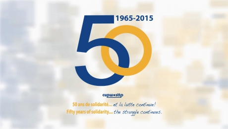 CUPW-STTP 50 years/ans
